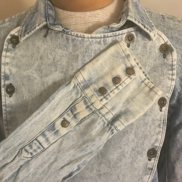John Wayne Style Bib Cavalry Shirt Vintage sz S